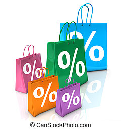 Shopping Bags Percent