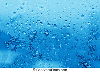 ice and water drops texture - blue ice and water drops on...