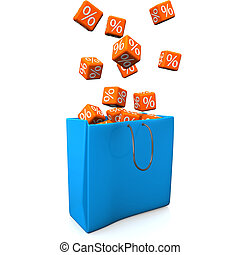 Shopping Bag Percent Cubes