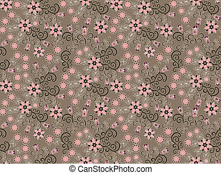 pattern with small pink flowers