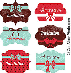 Set of vintage frames Stickers for wedding design