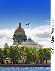 Russia. Petersburg. A view on the Isaakievsky Cathedral...