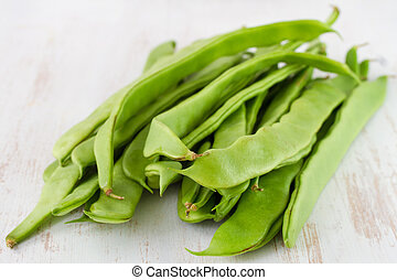 green beans on the table