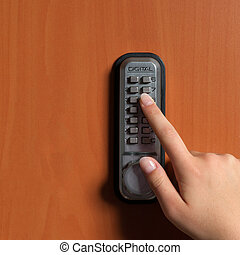 doorlock with a key code - touchpanel to activate the door...