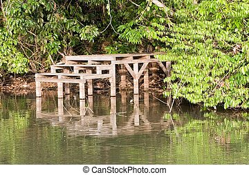 Lake Sandoval - The main tourist attraction drawing tourists...