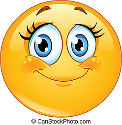 Eyelashes emoticon - Cute eyelashes emoticon