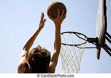 slam-dunk - basketball concept, special toned photo fx,...