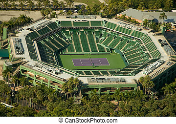 Aerial view of tennis court - Aerial view of a tennis court...