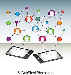 vector social media connection