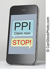 Payment Protection Insurance claim spam text message on...