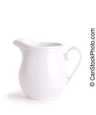 milk jug isolated on white background