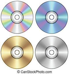 CD - Layered vector illustration of CD.