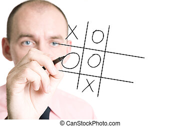crisscross - business concept with businessman isolated on...