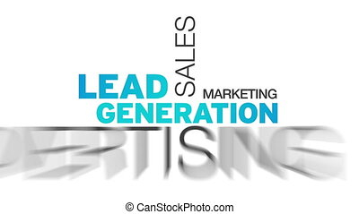 Lead Generation Word Cloud - Animated Lead Generation Word...