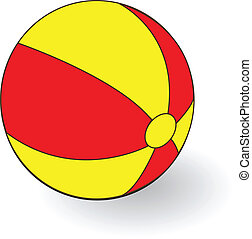 bright inflatable ball on white background