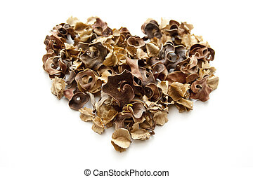 Potpourri in heart form