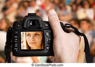 写真撮影, 人々