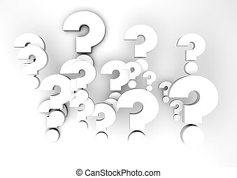 questions - render of a group of question marks