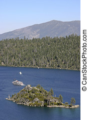 Touring Tahoe - A boat tour goes to and from Fannette Island...