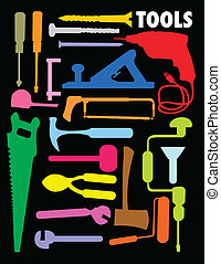 tools - vector set of tools