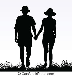 couple in love - vector illustration of a couple