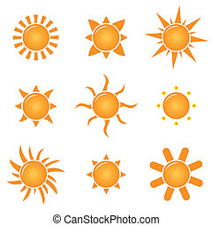 suns - vector set of suns