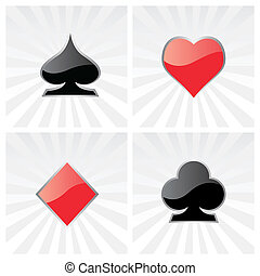 play card icons