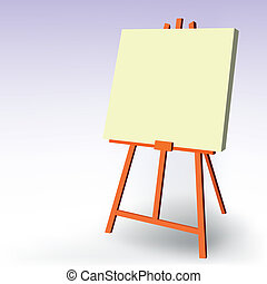 blank easel - vector illustration of a blank easel
