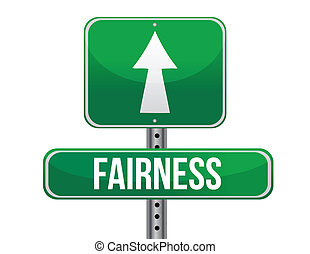fairness road sign illustration design over a white...