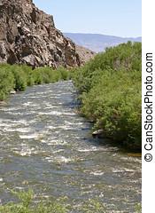 Babbling Desert River - A life bring river running through a...