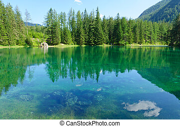 Green lake in Austria - The green lake, located in Bruck an...