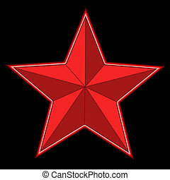 red bright star