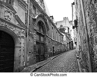 Tight street in old medieval town