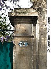 casa, portões, Número