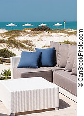 sofa on the beach - nice and luxury place on the beach,...