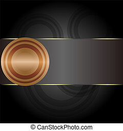 Golden circular abstract motion on vintage background