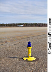 Light on taxiway - Ground side lamp taxiway at the airport