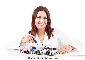Computer technician - Happy and successful young computer...