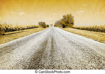American Country Road - Old Picture Design - American...