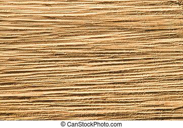 Close-Up Texture of Rough-Cut Timber