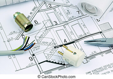 blueprint for a house electrical - an architects blueprint...