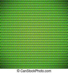 Green Seamless Circle Perforated Grill Texture - Green...