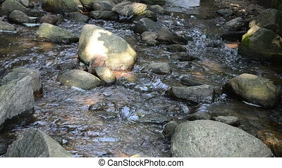 stream water flow stone - stream brook water flow run...
