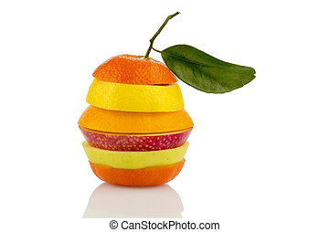 verschiedne slices of fruits - several different slices of...