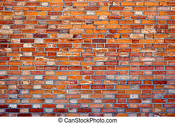 Yellow brick wall - Part of the old wall of yellow brick