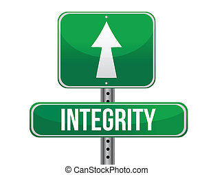 integrity road sign illustration design