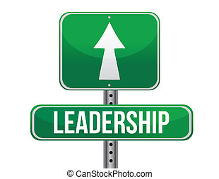leadership road sign illustration design