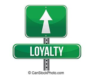 loyalty road sign illustration design