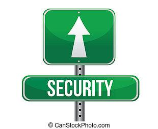 security road sign illustration design