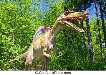 dinossauro, floresta